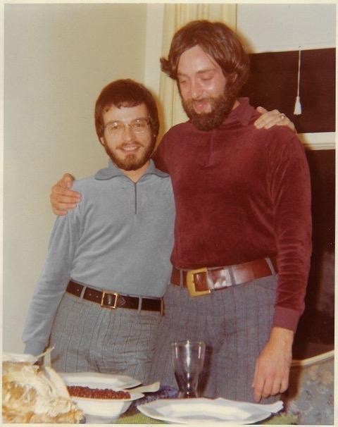Bruce and Peter on Thanksgiving,1971.