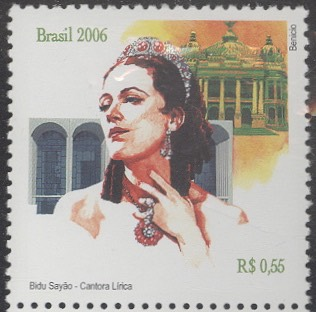 Bidú Sayão on Brazilian postage stamp