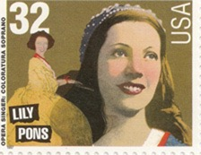 Lily Pons on US postage stamp